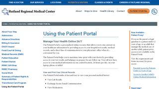 Rrmc Patient Portal