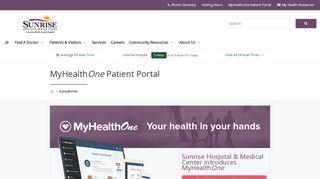 Sunrise Hospital Patient Portal