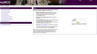 West Chester University Student Portal
