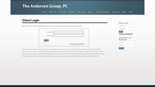 Anderson Group Portal