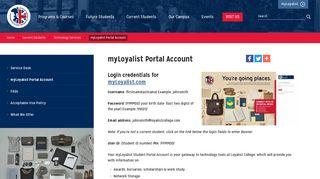 Loyalist Student Portal