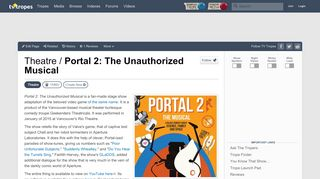 Portal 2 Musical