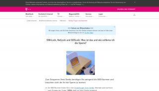 Telekom Simlock Portal