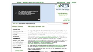 Lanier Tech Blackboard Login