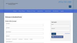 Mccallum Highlands Resident Portal