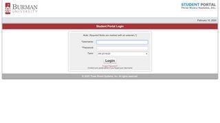 Student Portal Burman